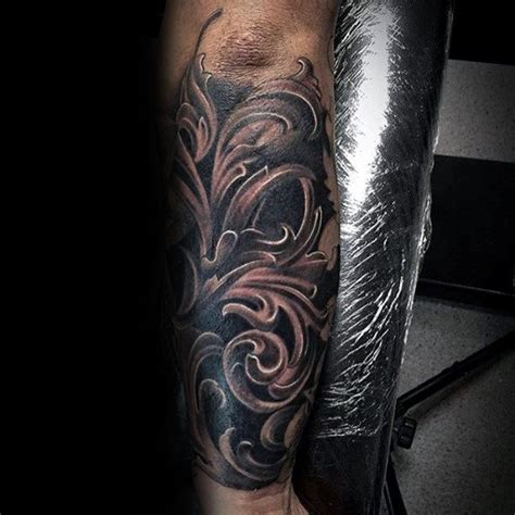 shaded sleeve tattoos for men 90 filigree tattoos for ornamental ink design ideas