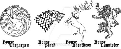 thrones coloring book sigils of thrones house sigil 1 by taeliac on deviantart