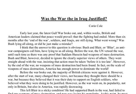Discursive Essays Exles by Discursive Essay On The War In Iraq
