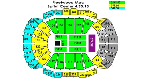 sprint center floor plan fleetwood mac sprint center