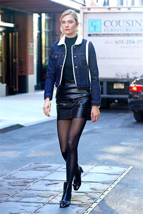 alex jones mini skirt school karlie kloss leather mini skirt leather
