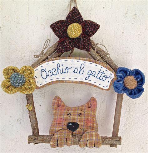 cassetta gatto ghirlanda casetta in legno con gatto e fiori per la casa