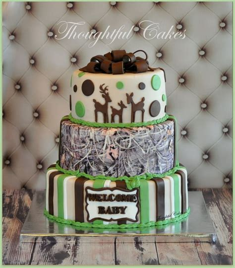 Camouflage Baby Shower by Camo Babyshower Cake Baby Shower Ideas