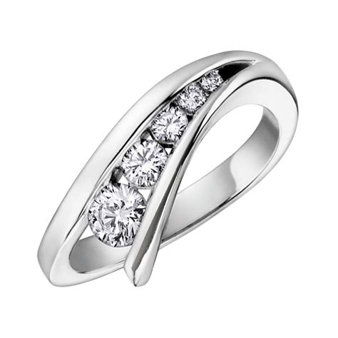 graduated 9ct white gold dress ring francis