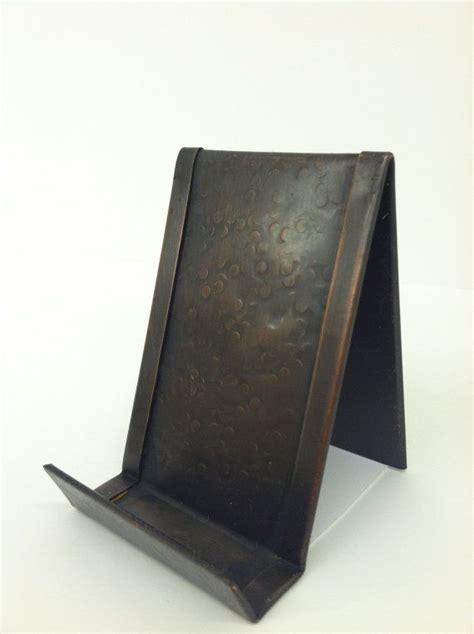 Vertical Business Card Holder Desk hammered vertical business card holder bronze patina