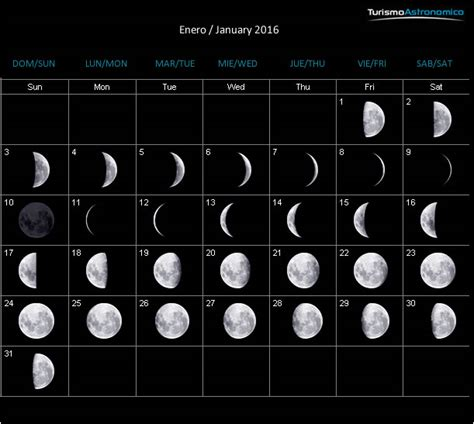 calendario con luna creciente 2016 calendario lunar
