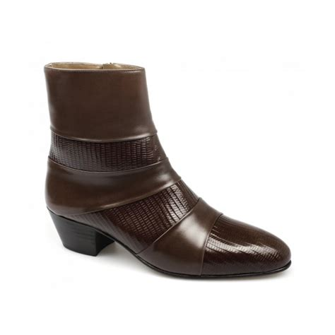 cuban heel mens boots mens cuban heel leather boots made by