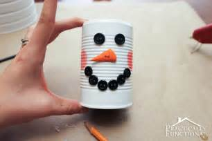 Christmas Craft Ideas For Kids To Make - diy christmas craft tin can snowman