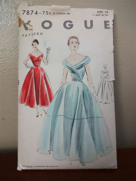 pattern drafting wedding gown stunning vintage vogue 7874 evening dress or bridal gown