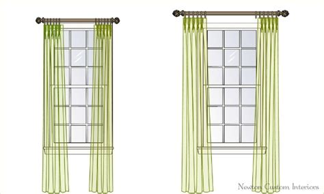how high to hang curtains 8 foot ceiling the best way to hang draperies or curtains newton custom