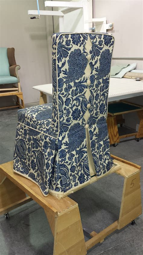custom parsons chair slipcover  decorative