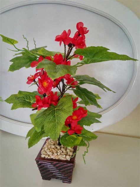 Promo Bunga Plastik Hias Hiasan Artificial Artifisial Flower Anggrek bunga hiasan meja desainrumahid