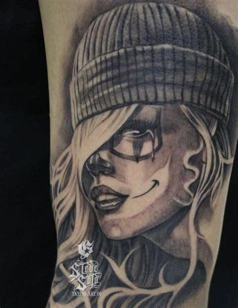 black and grey gangster tattoos gangsta la catrina tattoo tattoo black and gray