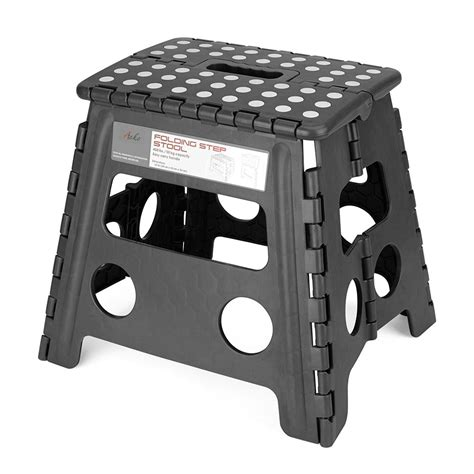 Jeronic Folding Step Stool by Acko 16 Inches Strong Folding Step