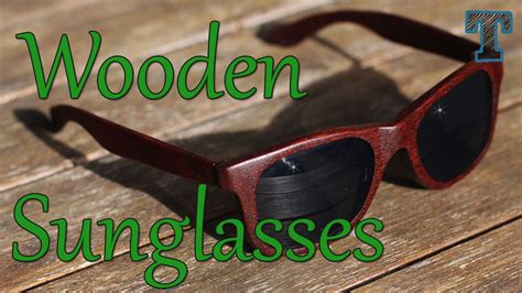 homemade wooden sunglasses summer woodworking project