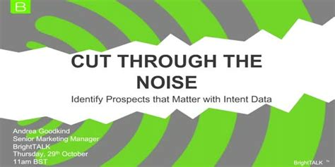 Cut Out The Noise With The Comply Noise Reduction Earbuds From Sharper Image by Cut Through The Noise Identify Prospects That Matter With