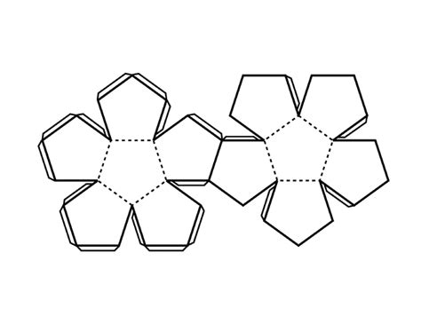 icosahedron template dodecahedron template www pixshark images