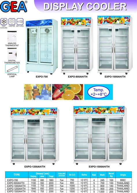 Freezer Box 2 Pintu gea display cooler 2 3 pintu aneka mesin resto