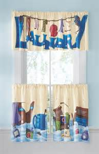 Laundry Room Curtains 3 Pc Laundry Room Caf 233 Window Treatment Curtain Set Polyester Valance Tier I7129 Ebay
