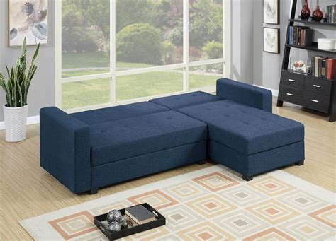 navy blue sectional with chaise f7895 navy blue reversible chaise sectional sofa by poundex