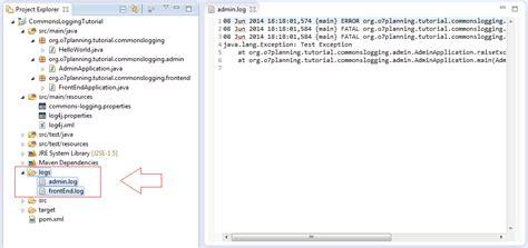 tutorial java logging java commons logging tutorial