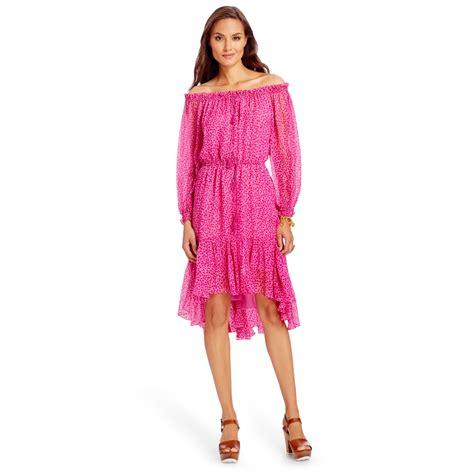 Dvf Dresses by Lyst Diane Furstenberg Dvf Camila Chiffon Dress In Pink
