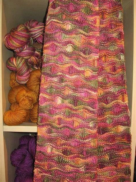Free Pattern Ocean Waves Scarf By Leslie Lewis Knit   free pattern ocean waves scarf by leslie lewis knit