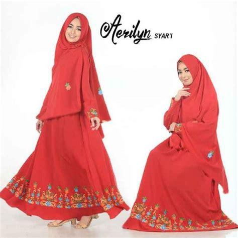 Jilbab Syar I Jilbab Syari Bordir gamis polos aerlyn syar i crepe bordir baju muslim cantik