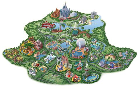 vintage walt disney world maps of walt disney world