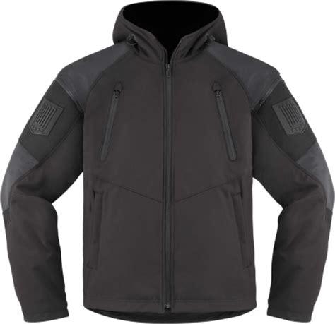 hooded motorcycle jacket icon 1000 basehawk d30 armored black textile waterproof