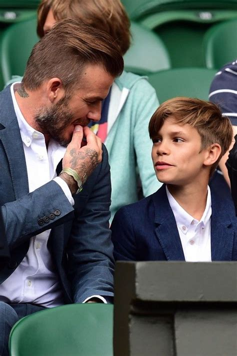 romeo beckham hairstyle wimbledon 2017 the celebrity crowd hit centre court