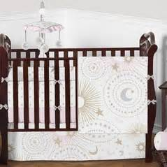 Moon And Stars Celestial Baby Bedding Sets Celestial Crib Bedding