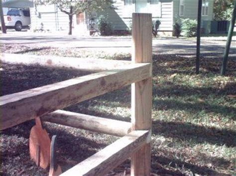Landscape Timbers Fence How To Build A Sturdy Landscape Timber Fence By Kevin W