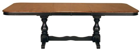 Black And Cherry Dining Table Park Black Cherry Rectangular Pedestal Extendable Dining Table T57 4268xbt