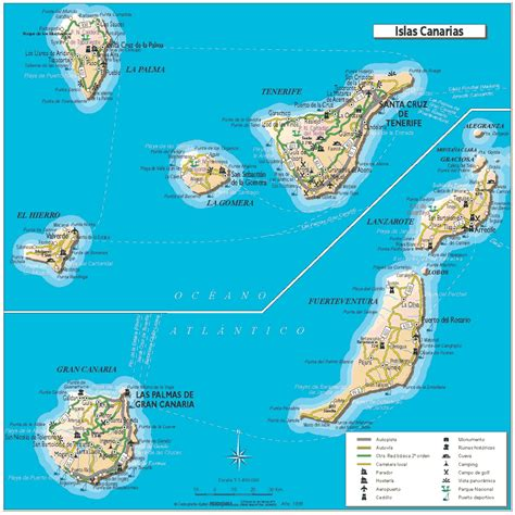 canary islands map city maps stadskartor och turistkartor travel portal