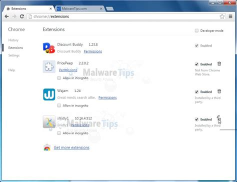 chrome uninstall extension remove xvidly toolbar uninstall guide