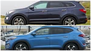 Hyundai Tucson Santa Fe Difference 2016 Hyundai Tucson Vs Hyundai Sante Fe