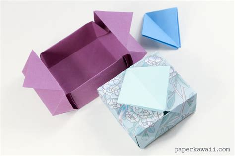 Origami Cool Box - origami gatefold box paper kawaii