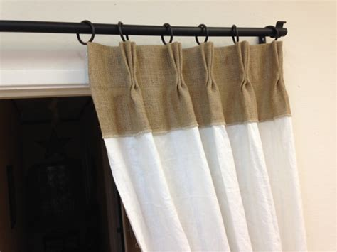 White Burlap Curtains 84 Linen Curtains Burlap Curtains Pinch Pleat Panels
