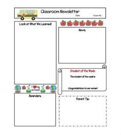 classroom newsletter templates microsoft word newsletter exle