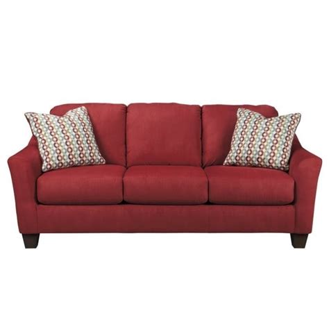 queen sleeper sofa dimensions ashley hannin fabric queen size sleeper sofa in spice