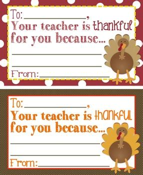 Thanksgiving Card For Teachers Template by Thanksgiving Quot Your Is Thankful For You Because