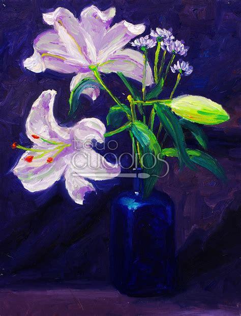 cuadros de lirios cuadro de lirios pintura de flores para decorar