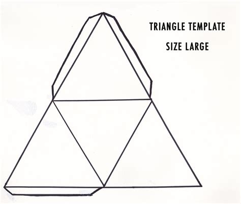 4 best images of triangular pyramid template printable