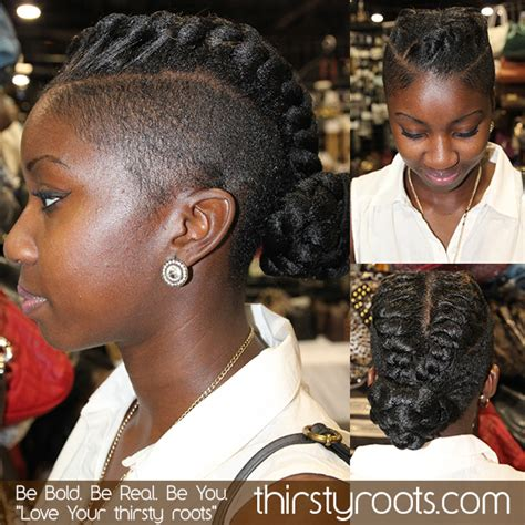 shaved mohawk braids natural hairstyles with shaved sides short hairstyle 2013