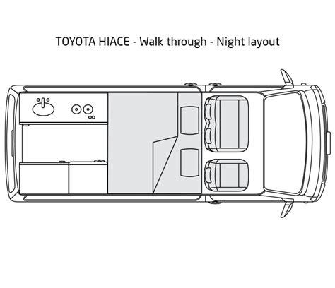 Toyota Hiace Interior Dimensions New Toyota Hiace Walk Thru Discoverer Cers