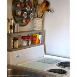 Small Spice Rack Diy Shelf Above The Stove Extra Storage In A Small