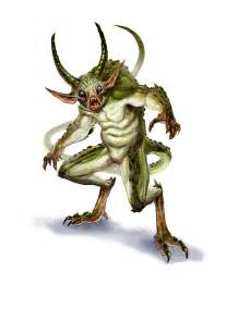 Demon quasit from the fifth edition d amp d monster manual art by