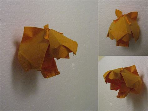 Tiger Origami - origami tiger by h on deviantart