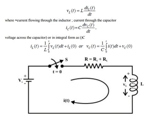 transient current through inductor transient response of rl circuits study material lecturing notes assignment reference wiki